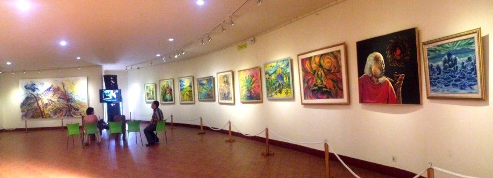 gallery lukisan di museum affandi